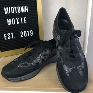 Mephisto Black suede sneakers, size 11